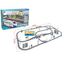 仿真高铁动车轨道儿童玩具电动托马斯小火车模型和谐号头列车 桥墩+隧道+5车厢 _86件套