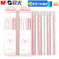 晨光铅笔【36支】HB铅笔粉色小猪六角型小学生用幼儿园儿童学习文具用品