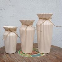 现代简约陶瓷花瓶工艺品 家居电视酒柜客厅仿真花装饰花插花瓶装饰摆件 三只组合装