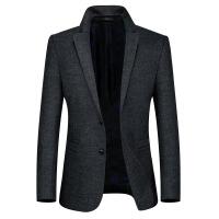 男士羊毛呢子外套帅气短款小西装修身休闲西服韩版潮妮子单件上衣