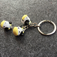 可爱小狗卡通十二生肖三串铃铛钥匙扣创意汽车钥匙挂件圈情侣礼品