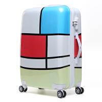 镜面卡通学生旅行箱万向轮行李箱男女p密码儿童拉杆箱包20寸24寸