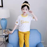 女童夏装新款套装洋气儿童装运动两件套韩版阔腿裤女孩夏季潮