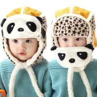 冬天口罩保暖婴儿套头帽 儿童帽子 男雷锋帽 宝宝熊猫帽