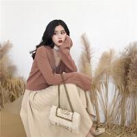 复古chic风春装新款慵懒气质温柔喇叭袖短款针织开衫毛衣外套女潮yly 版