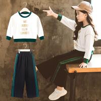 女童秋装套装韩版中大童洋气儿童装套头运动服两件套潮衣