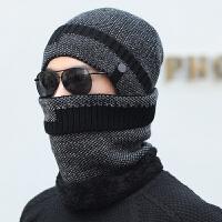 男士帽子冬季保暖针织毛线帽冬天户外骑车棉帽