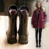 2018秋冬新款女短靴真皮平底中筒靴棉靴平跟厚底女靴子流苏马丁靴SN2841