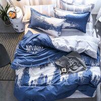 被罩四件套被套被单床单三件套床上用品 学生宿舍 单人男生简约