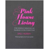 【特惠包邮】Pink House Living 粉色家居生活 英文原版室内设计 居家装修装潢