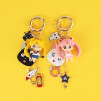 美少女战士钥匙扣水冰月露娜钥匙挂件韩国可爱月野兔汽车钥匙链