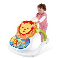 欢乐四合一智能学步车 婴儿学步车 餐椅 手推车 益智学习 早教 可折叠防侧翻童车多功能摇马