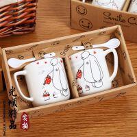 卡通陶瓷杯 牛奶杯 创意情侣对杯 咖啡杯礼品套杯 杯型随机 图案随机