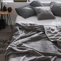 法兰绒珊瑚绒毯子毛毯冬季毛绒床单单件法莱绒午睡毯加绒双人床