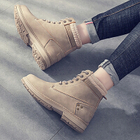 马丁靴 女士冬季加绒韩版马丁靴2020新款女式大码短靴皮靴系带靴子女鞋子