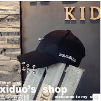 亲子帽 韩国单新款儿童潮范儿鸭舌帽耳环圆环棒球帽