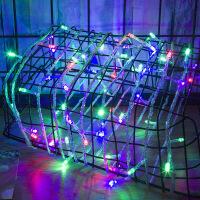 七彩闪灯串照背景装饰窗帘灯圣诞树挂件亮化工程灯光节彩灯