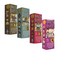 6盒 英文原版 Brain Quest Grade 2-7  美国全科系列 大脑任务智力开发卡片书 亲子问答字卡 英文原版绿山墙