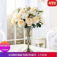 欧式玻璃花瓶摆件餐桌客厅干花假花透明摆件大号家居饰品装饰摆设 自店营年货