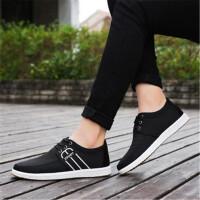 单鞋春季新款百搭男鞋子男士休闲透气帆布鞋韩版潮流学生低帮板鞋