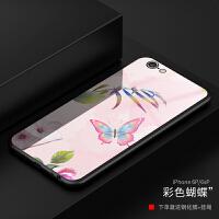 苹果6手机壳男女潮6plus防摔保护iphone6s硅胶套玻璃全包个性定制 i6splus 彩