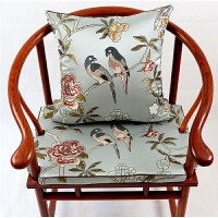 新中式花鸟红木沙发垫圈椅垫棕垫太师椅罗汉床坐垫靠垫抱枕定制!