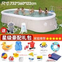 游泳池婴儿大型家用宝宝儿童超大号水上乐园充气夹网加厚水池