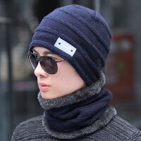 帽子男士冬天潮保暖毛线帽口罩套头帽骑车秋季针织帽