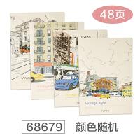 记事本韩国创意日记本手账本笔记本文具学生用品软面抄