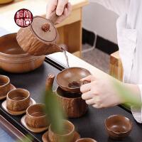 茶壶简易复古办公室创意简约 家用整套装功夫茶具粗陶瓷日式茶杯子
