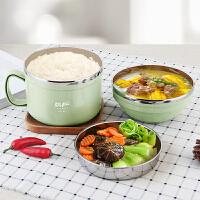 快餐杯带盖碗韩国饭缸 304不锈钢保温饭盒儿童便当盒学生餐盒