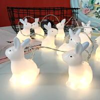 韩国少女创意led小兔子灯串节日装饰灯串灯圣诞灯房间暖光灯
