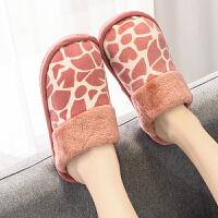 棉拖鞋 女士家居冬季棉拖2020新款女式室内防滑厚棉拖保暖毛拖鞋女鞋子