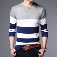 时尚男士长袖T恤男装秋季新款大码青年上衣打底针织线衫