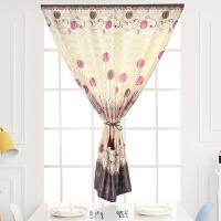 窗帘成品免打孔魔术贴短窗卧室卫生间出租房简约现代短帘简易安装 定制尺寸/平方价