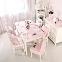 皮筋台布桌布艺餐椅套套装皮椅子套罩定做凳子套家用桌套公主