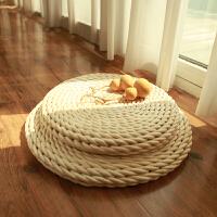 蒲团坐垫手工玉米皮草编坐禅垫榻榻米飘窗地板打坐瑜伽拜佛禅修椅垫茶道坐垫