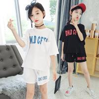 女童夏装新款套装韩版时尚儿童夏季中大童洋气时髦两件套童装