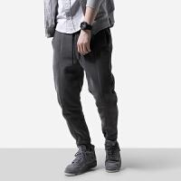 秋季男装裤子春秋运动男士卫裤青年纯色宽松抽绳潮裤收口裤