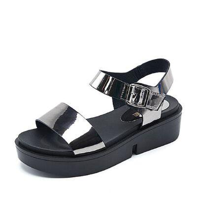 Belle/百丽夏专柜同款人造革女凉鞋R5J1DBL7