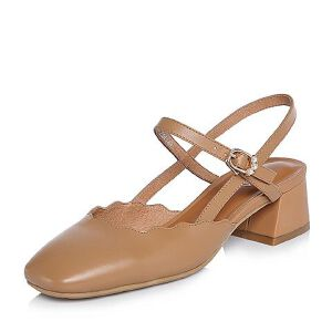 BASTO/百思图2018春季专柜同款牛皮简约纯色方头粗跟女皮凉鞋AC870AH8