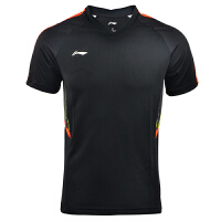 李宁(LI-NING)2018新款羽毛球服汤尤杯球迷男女速干短袖T恤