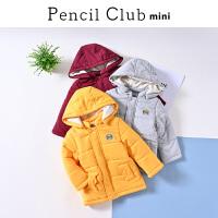 【3件价:108元】铅笔俱乐部童装2019冬季新款男童棉外套小童保暖棉衣儿童连帽外套