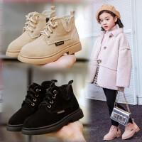 【活动价:96】女童马丁靴真皮公主短靴2019冬季童鞋儿童英伦风男童靴子