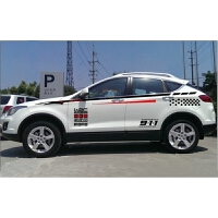 一汽奔腾X80汽车用品改装汽车贴纸 比亚迪S6哈弗H6全车身腰线拉花