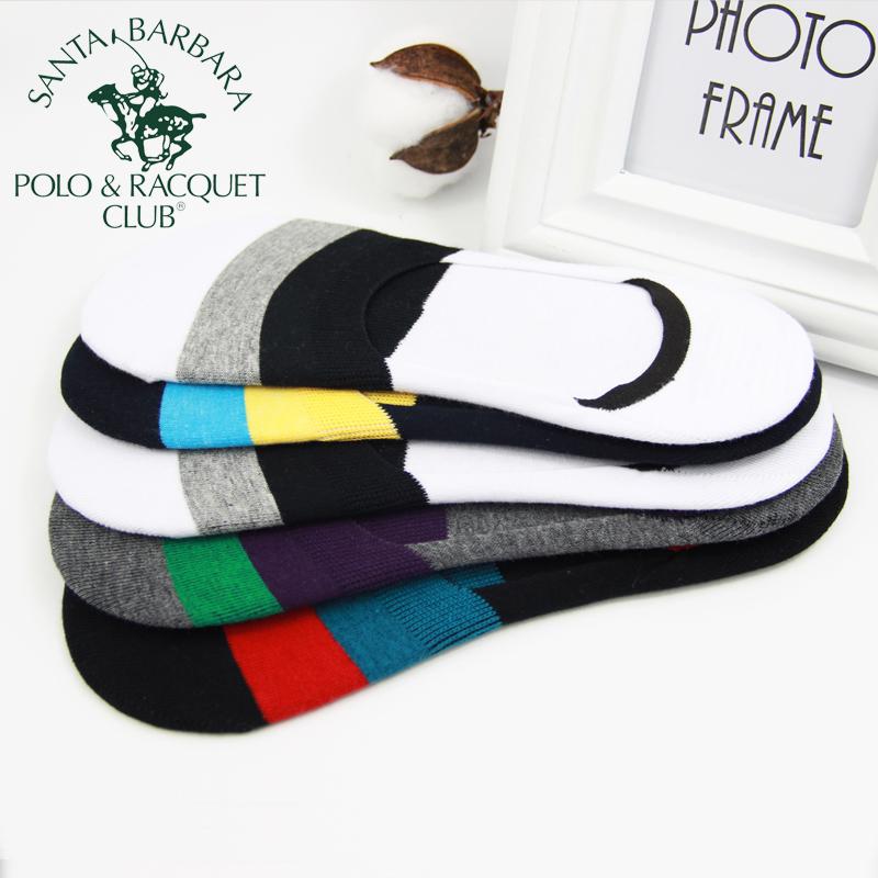 圣大保罗Polo男士纯棉薄款隐形袜套低帮浅口运动棉袜吸汗防臭新款