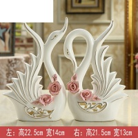 客厅电视柜装饰品酒柜摆件创意家居家装室内摆设陶瓷工艺品小天鹅