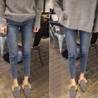 孕妇裤牛仔裤春季裤子秋季冬季潮妈外穿九分春秋薄款
