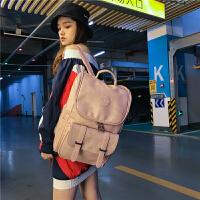 双肩包女韩版潮2018新款原宿ulzzang高中学生书包百搭大容量背包