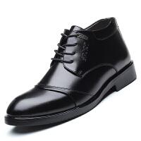 保暖皮鞋中老年冬季男士加绒加厚羊毛真皮冬天送爸爸鞋子高帮棉鞋